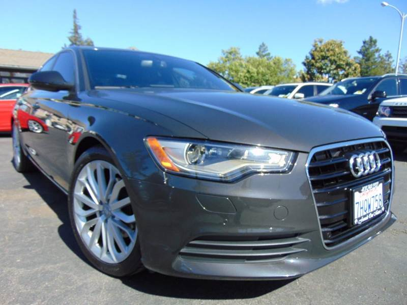 2013 AUDI A6 20T PREMIUM PLUS 4DR SEDAN dakota grey metallic one ownerclean carfax report