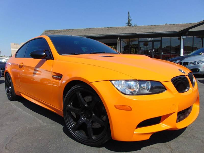 2008 BMW M3 BASE 2DR COUPE orange vinyl wrap clean carfax reportcalifornia vehicledealer m