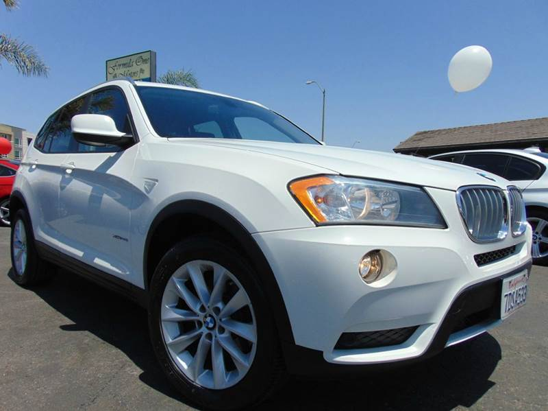 2014 BMW X3 XDRIVE28I AWD 4DR SUV white clean carfax2nd ownercalifornia vehiclenavigat