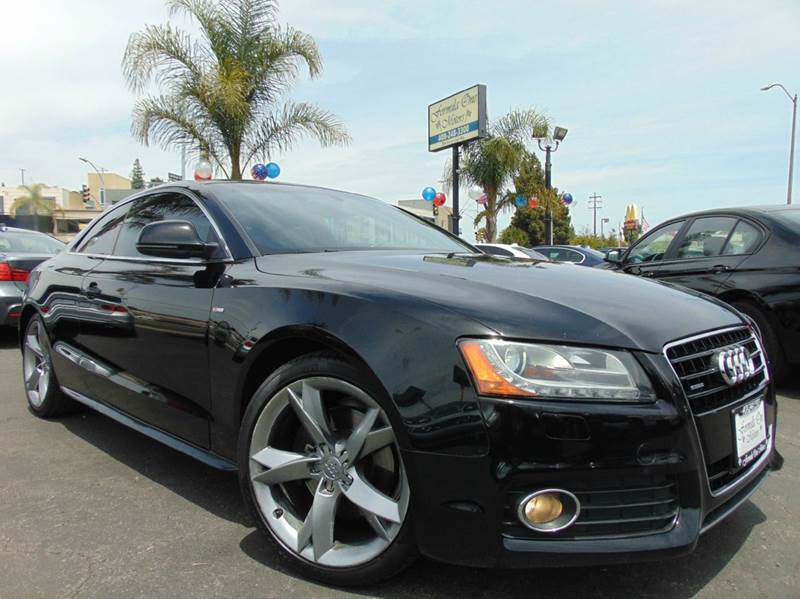 2009 AUDI A5 QUATTRO AWD 2DR COUPE 6A black clean carfax2nd ownercalifornia vehicles-l