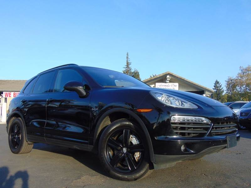 2012 PORSCHE CAYENNE S HYBRID AWD 4DR SUV black clean carfax history reportcalifornia vehicle