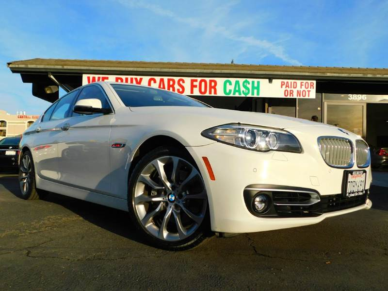 2014 BMW 5 SERIES 535I 4DR SEDAN white 2-stage unlocking doors abs - 4-wheel active head restrai
