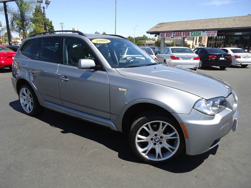 2008 BMW X3 30SI AWD 4DR SUV silver m sport packagenavigation clean title with clean carf