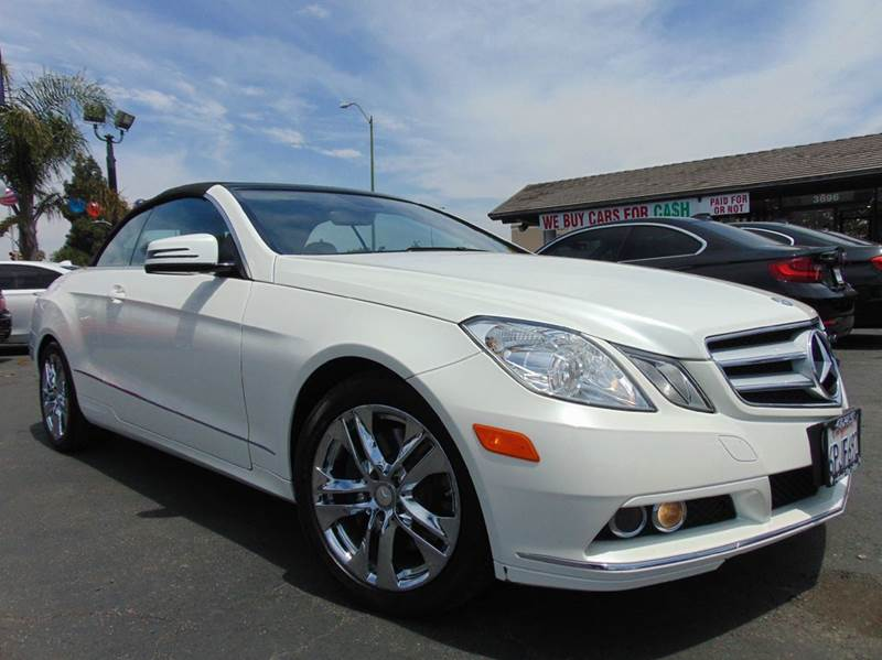 2011 MERCEDES-BENZ E-CLASS E 350 2DR CONVERTIBLE white abs - 4-wheel active head restraints - du