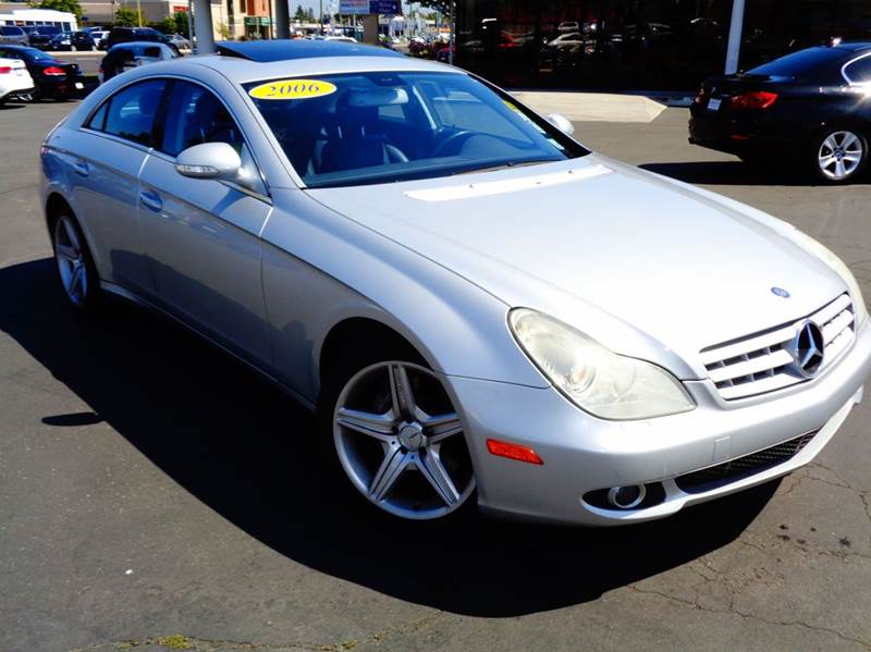 2006 MERCEDES-BENZ CLS CLS500 4DR SEDAN silver loaded amg package navigation system amg