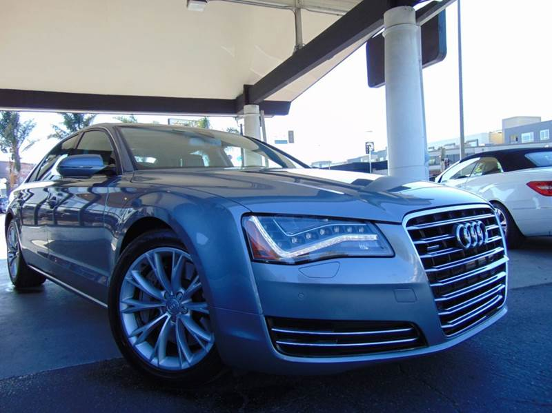 2011 AUDI A8 L QUATTRO AWD 4DR SEDAN silver 2-stage unlocking doors 4wd type - full time abs - 4