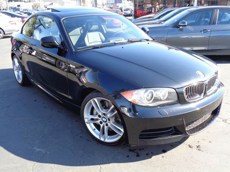 2011 BMW 1 SERIES 135I 2DR COUPE black clean carfax m-package6 speed manual transmission