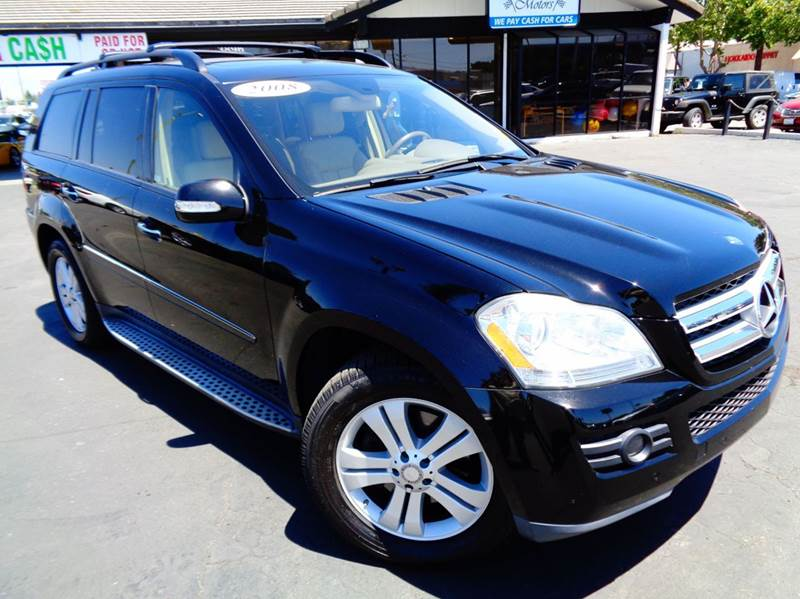 2008 MERCEDES-BENZ GL-CLASS GL450 4MATIC AWD 4DR SUV black clean carfax loaded with navigation