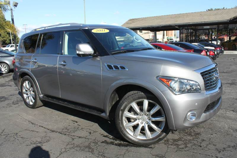 2011 INFINITI QX56 BASE 4X2 4DR SUV W SPLIT BENCH gray clean carfaxnavigationback-up camer
