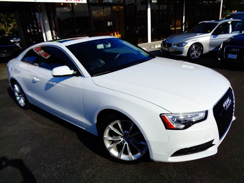 2013 AUDI A5 20T QUATTRO PREMIUM PLUS AWD 2D white loaded clean carfax premium plus package