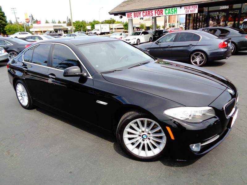 2011 BMW 5 SERIES 535I 4DR SEDAN black clean carfax california vehicle comes with premium p