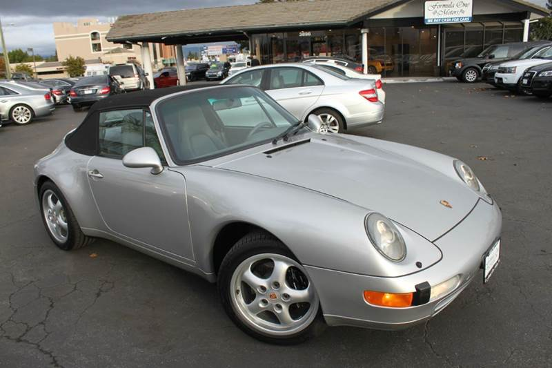 1998 PORSCHE 911 CARRERA 2DR CONVERTIBLE silver abs - 4-wheel anti-theft system - alarm cassett