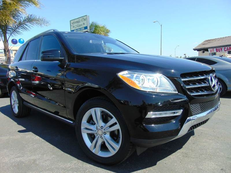 2012 MERCEDES-BENZ M-CLASS ML 350 AWD 4MATIC 4DR SUV black clean carfaxcalifornia vehicleal