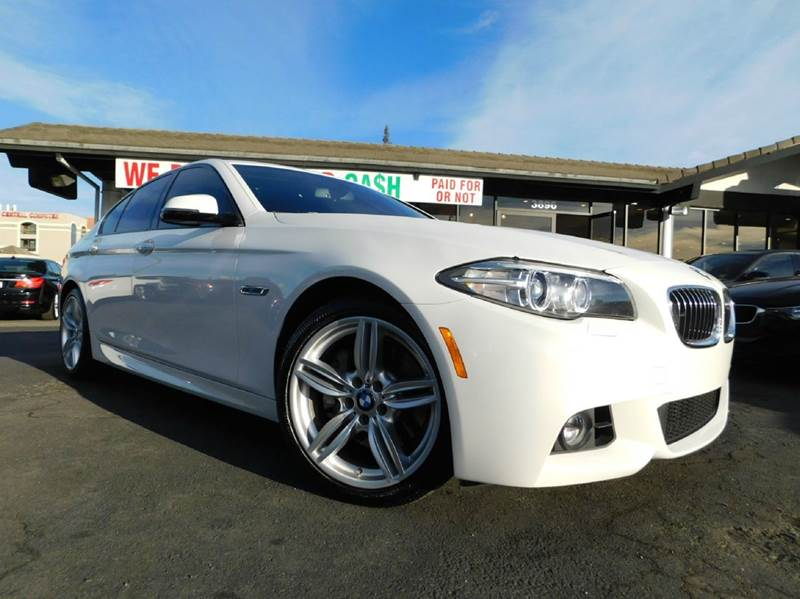 2014 BMW 5 SERIES 535D 4DR SEDAN white 2-stage unlocking doors abs - 4-wheel active head restra