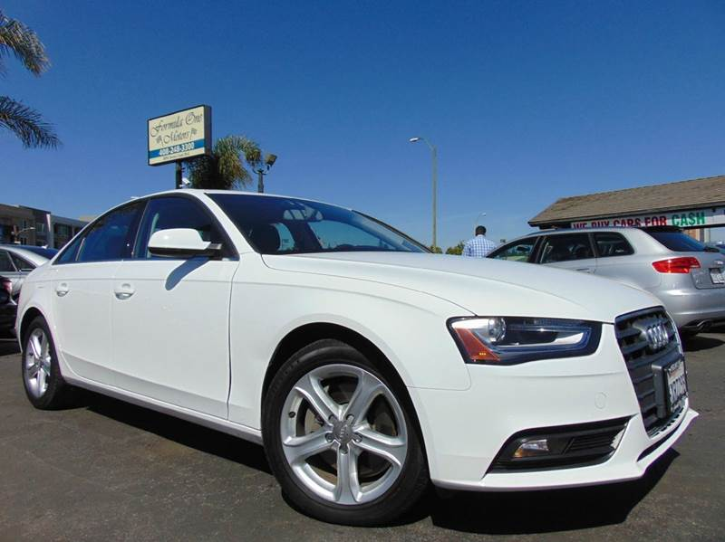 2013 AUDI A4 20T PREMIUM 4DR SEDAN white clean carfaxcalifornia vehiclealways dealer serv
