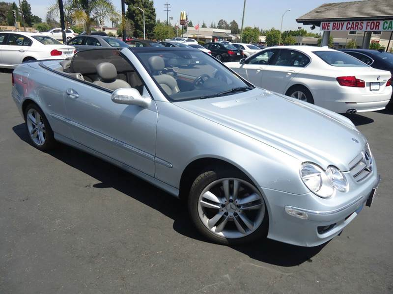 2007 MERCEDES-BENZ CLK CLK350 2DR CONVERTIBLE silver luxury vehicle convertible low mileag