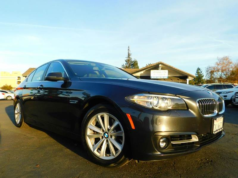 2015 BMW 5 SERIES 528I 4DR SEDAN dark gray 2-stage unlocking doors abs - 4-wheel active head res