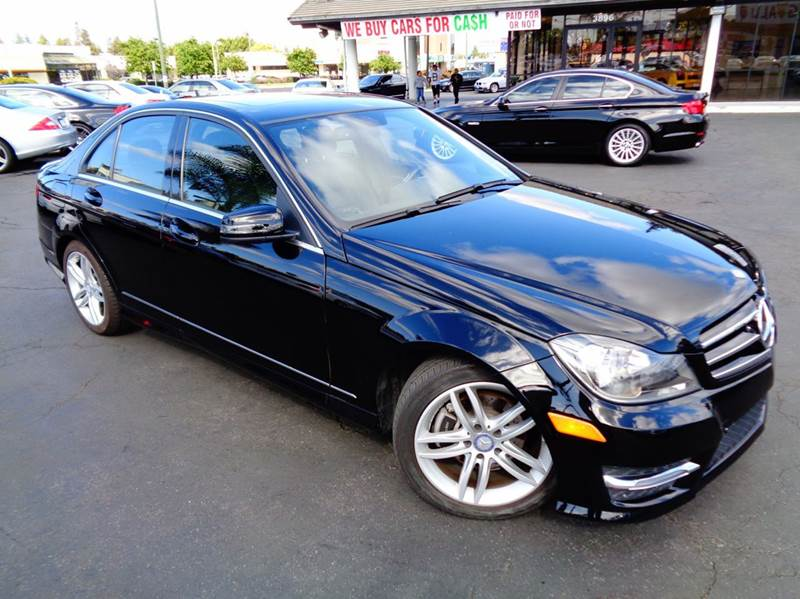 2014 MERCEDES-BENZ C-CLASS C250 SPORT 4DR SEDAN black 1 owner  clean carfax comes with the r