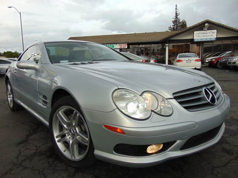 2006 MERCEDES-BENZ SL-CLASS SL 500 2DR CONVERTIBLE diamond silver metallic clean carfax2nd o