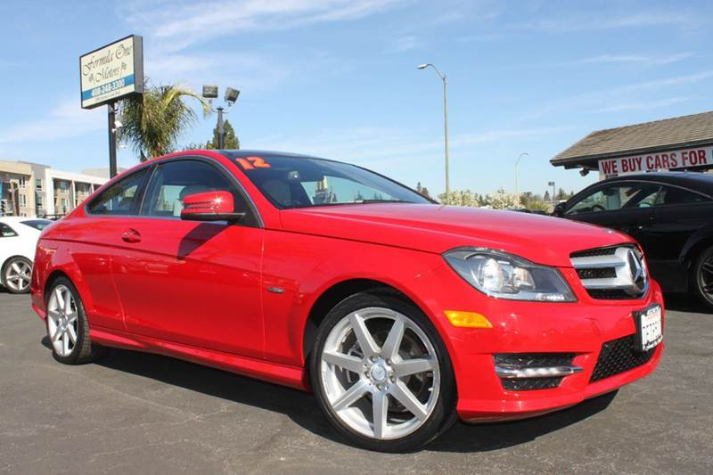 2012 MERCEDES-BENZ C-CLASS C 250 2DR COUPE mars red clean carfaxcalifornia vehiclenavigat