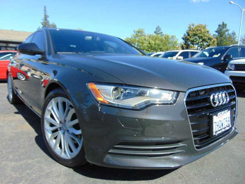 2013 AUDI A6 20T PREMIUM PLUS 4DR SEDAN dakota gray metallic clean carfaxcalifornia vehicle
