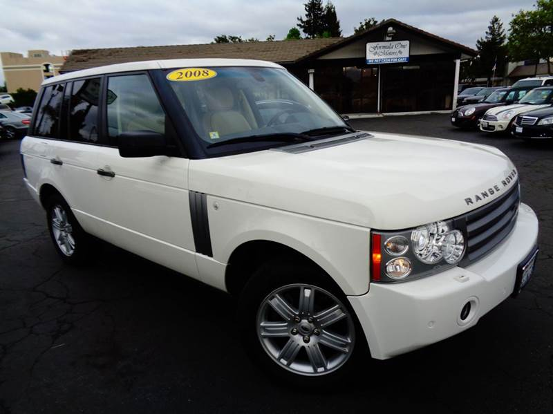 2008 LAND ROVER RANGE ROVER HSE 4X4 4DR SUV white 2-stage unlocking doors 4wd type - full time a