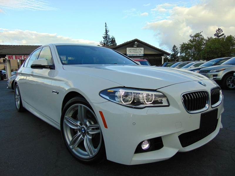 2014 BMW 5 SERIES 535I 4DR SEDAN white one ownercalifornia vehiclesuper clean inside and o