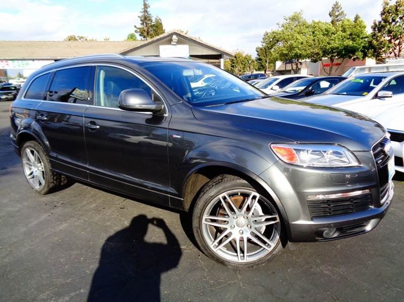 2008 AUDI Q7 42 PREMIUM QUATTRO AWD 4DR SUV gray 2-stage unlocking doors 3rd row moonroof  sunr