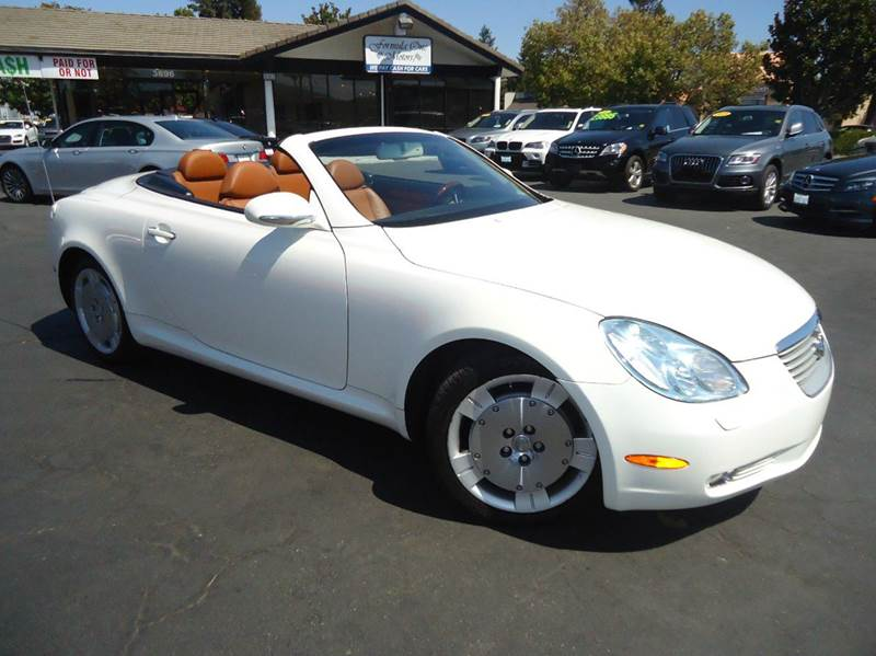 2003 LEXUS SC 430 2DR CONVERTIBLE white low mileage excellent color combinationhard top con