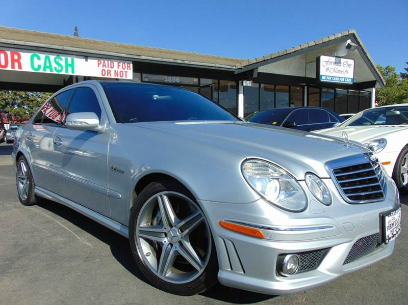 2009 MERCEDES-BENZ E-CLASS E 63 AMG 4DR SEDAN silver 2-stage unlocking doors abs - 4-wheel activ