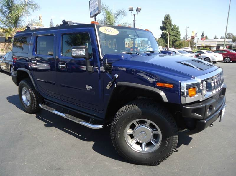 2007 HUMMER H2 4DR SUV 4WD terrain blue clean carfax clean title car no accidents on the carfax