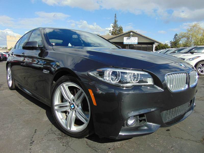 2014 BMW 5 SERIES 550I 4DR SEDAN dark graphite metallic clean carfaxcalifornia vehiclenavi