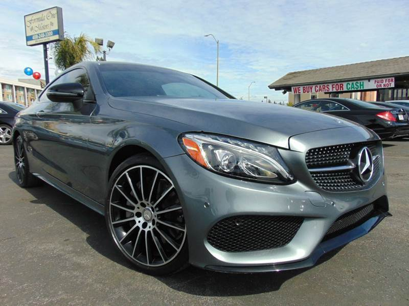 2017 MERCEDES-BENZ C-CLASS C 300 2DR COUPE gray clean carfaxone owneronly 3k milesor