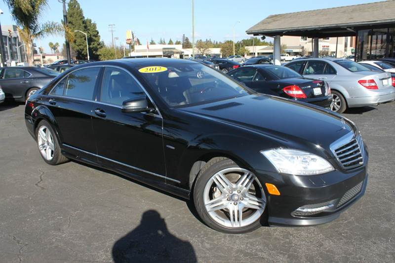 2012 MERCEDES-BENZ S-CLASS S 550 4DR SEDAN black clean carfaxcalifornia vehiclenavigation
