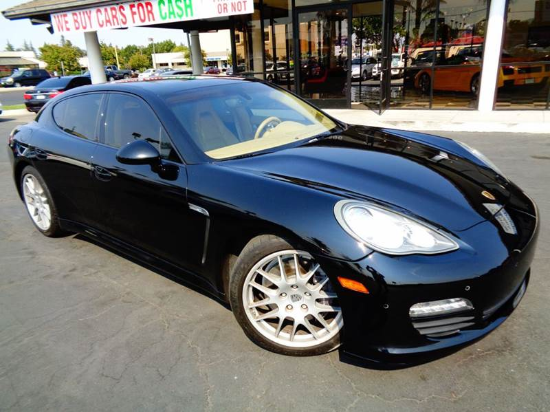 2011 PORSCHE PANAMERA BASE 4DR SEDAN black clean carfax  navigation  full leather interior