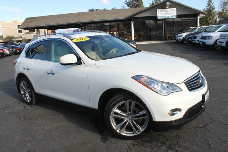 2013 INFINITI EX37 JOURNEY 4DR CROSSOVER white clean carfaxnavigationback up camerabran