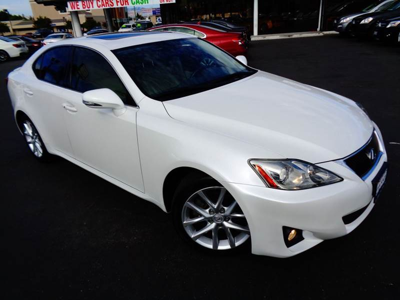 2012 LEXUS IS 250 BASE 4DR SEDAN 6A white 2-stage unlocking doors abs - 4-wheel air filtration