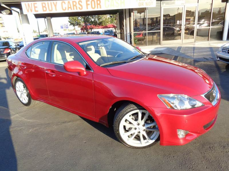 2007 LEXUS IS 250 BASE 4DR SEDAN 25L V6 6A red clean carfax low mileage equipped with n