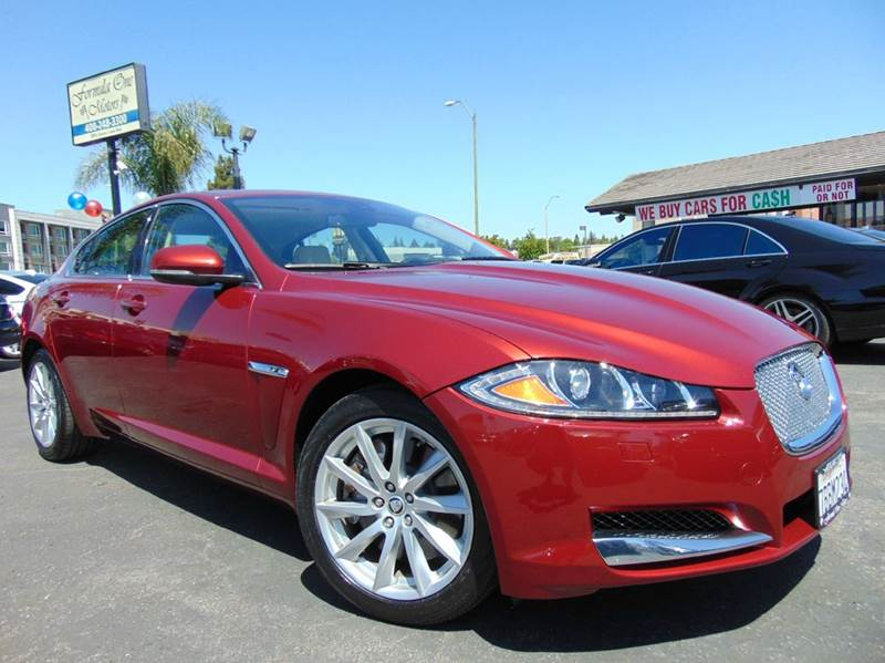 2013 JAGUAR XF 20T 4DR SEDAN red one ownerclean carfaxcalifornia vehicleleatherdu