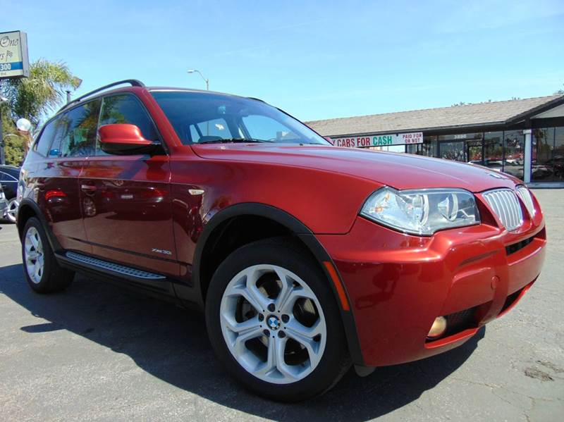 2010 BMW X3 XDRIVE30I AWD 4DR SUV red one ownerclean carfaxcalifornia vehiclenavigati