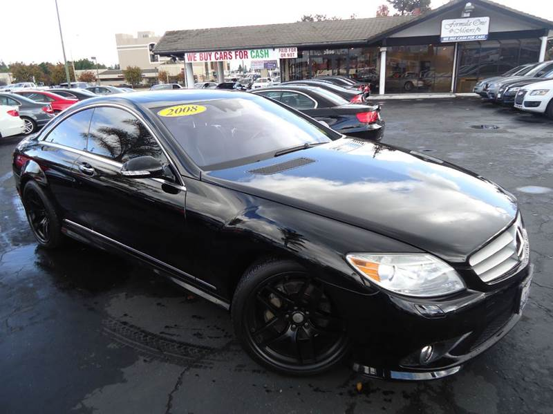 2008 MERCEDES-BENZ CL-CLASS CL550 2DR COUPE black clean carfaxwell maintainedfully loaded