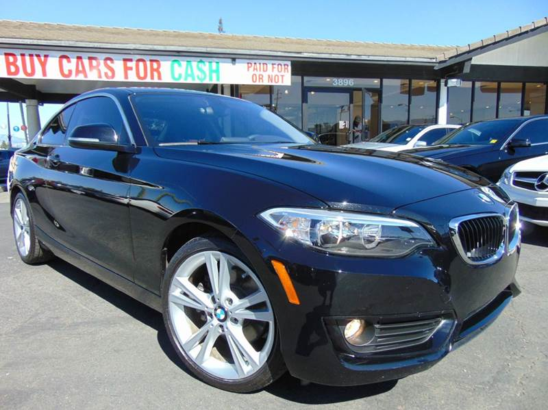 2015 BMW 2 SERIES 228I 2DR COUPE SULEV black one ownerclean carfax reportcalifornia vehicl