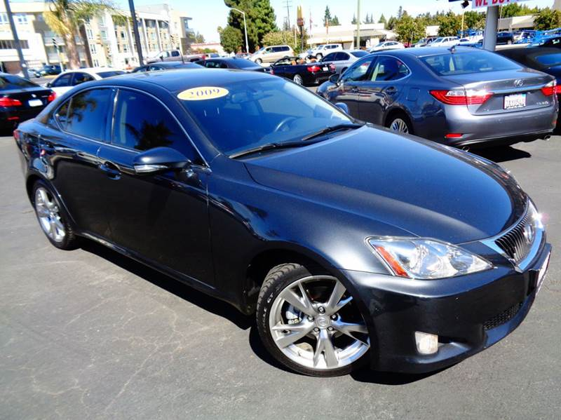 2009 LEXUS IS 250 BASE 4DR SEDAN 6A gray 2-stage unlocking doors abs - 4-wheel air filtration a