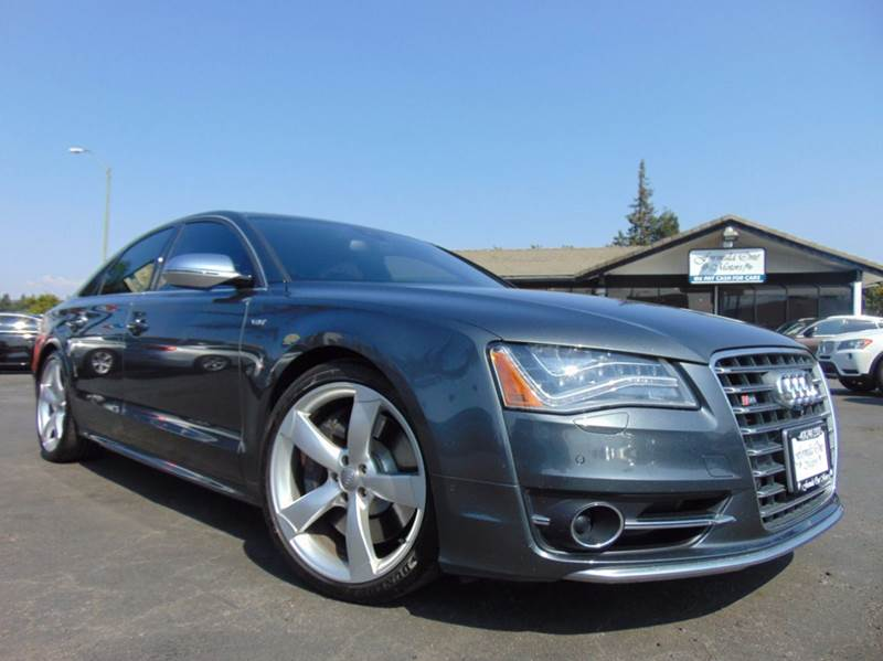 2013 AUDI S8 40T QUATTRO AWD 4DR SEDAN gray clean carfax reportcalifornia vehicle2nd owne
