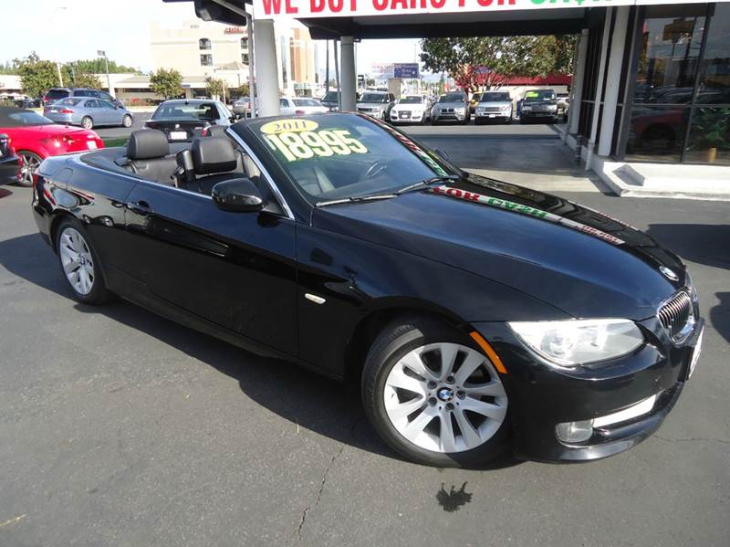 2011 BMW 3 SERIES 328I 2DR CONVERTIBLE SULEV black clean carfax hard top convertible premi