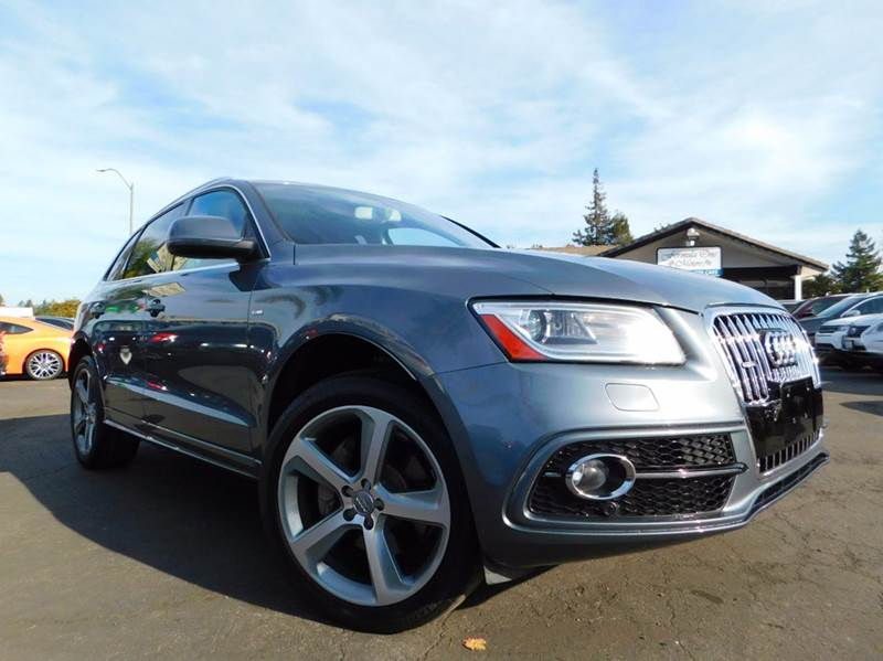 2014 AUDI Q5 30T QUATTRO PRESTIGE AWD 4DR SU gray this is an immaculate audi q5 loaded with optio