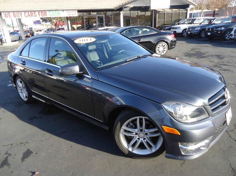 2014 MERCEDES-BENZ C-CLASS C250 SPORT 4DR SEDAN charcoal 1 owner clean carfax navigation sy