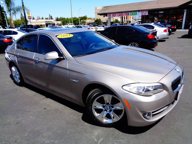 2013 BMW 5 SERIES 528I 4DR SEDAN champagne 1 owner clean carfax loaded navigation hea