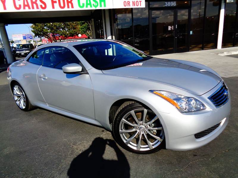 2009 INFINITI G37 CONVERTIBLE SPORT 2DR CONVERTIBLE silver clean carfax california vehicle