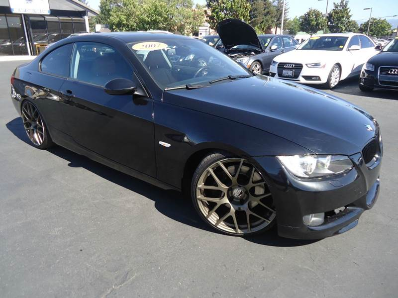 2007 BMW 3 SERIES 335I 2DR COUPE black clean carfax sport package premium packagecold w